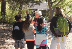 Docent leading one group from a school tour Photo by Teresa LeYung Ryan